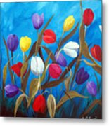 Tulips Galore II Metal Print