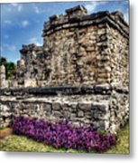 Tulum Temple Ruins Metal Print