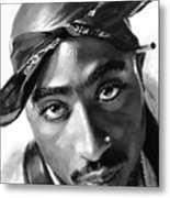 Tupac Shakur Metal Print