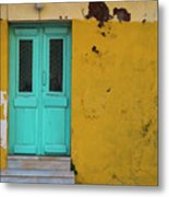 Turquoise Entry Metal Print