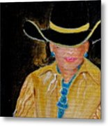 Turquoise Lady 3 Metal Print
