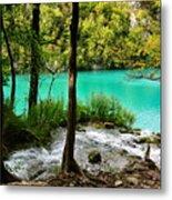 Turquoise Waters Of Milanovac Lake Metal Print