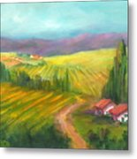 Tuscan Fields Metal Print