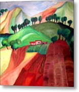 Tuscan Landscape Metal Print