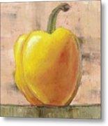 Tuscan Yellow Pepper Metal Print