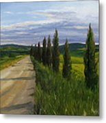 Tuscany Road Metal Print