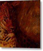 Twilight Leopard Metal Print