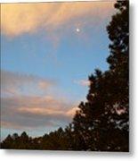 Twilight Moon Over The Hills Metal Print