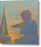 Twilight Sailor Metal Print