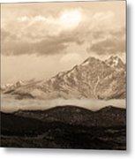 Twin Peaks Sepia Panorama Metal Print
