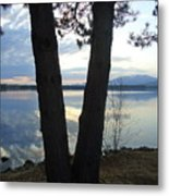 Twin Trees Mountain  Metal Print
