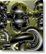 Twisted Logic Metal Print