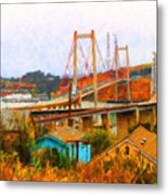 Two Bridges In The Backyard Metal Print by Wingsdomain Art and Photography