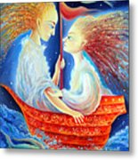 Two In A Boat Metal Print