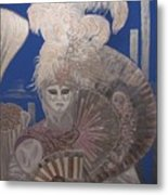 Two In The Silver Light Metal Print
