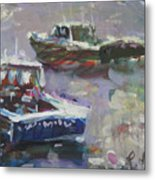 Two Lobster Boats Metal Print