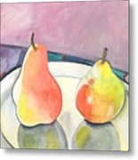 Two Pears Metal Print