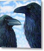 Two Ravens Metal Print
