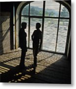 Two Women In  Shadows Metal Print