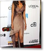 Tyra Banks At Arrivals For Conde Nast Metal Print
