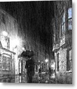Umbrella Man I Metal Print