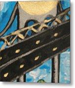 Under Brooklyn Bridge Ny II Metal Print