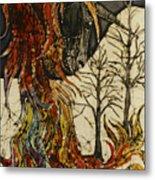 Unicorn And Phoenix Metal Print