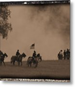 Union Cavalry Charge Metal Print