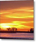 Union Reservoir Sunrise Feb 17 2011 Canvas Print Metal Print