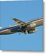 United Airbus A320-232 N475ua Friend Ship Phoenix Sky Harbor November 11 2017 Metal Print