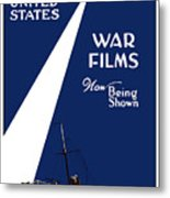 United States War Films Now Being Shown Metal Print by War Is Hell Store