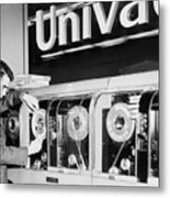 Univac Was The First Computer Designed Metal Print