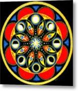 Universal Light  Mandala Metal Print