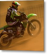 Uphill In The Dust Metal Print