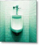 Urinal In Men's Restroom. Metal Print by John Greim