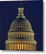 U.s. Capitol At Night Metal Print