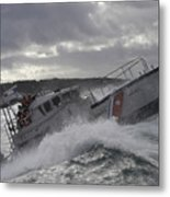 U.s. Coast Guard Motor Life Boat Brakes Metal Print by Stocktrek Images