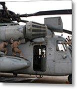 U.s. Marines Perform Preflight Checks Metal Print