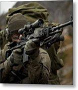 U.s. Special Forces Soldier Armed Metal Print