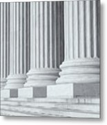 Us Supreme Court Building Iv Metal Print by Clarence Holmes