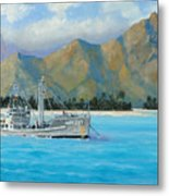 Uss Reluctant Anchored Off Ennui Metal Print