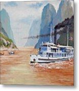 Uss San Pablo On Yangtze River Patrol Metal Print