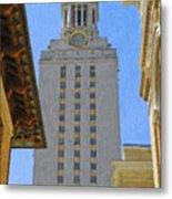 Ut University Of Texas Tower Austin Texas Metal Print
