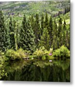 Vail Reflections In The Summer Metal Print