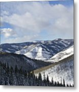 Vail Valley From Ski Slopes Metal Print by Brendan Reals