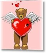 Valentine Bear Metal Print