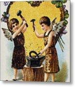 Valentines Day Card, 1900 Metal Print