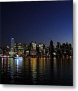 Vancouver Night Lights Metal Print