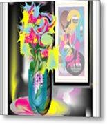 Vase And Painting Metal Print