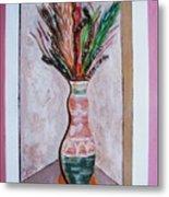 Vase In Cubby Hole Metal Print